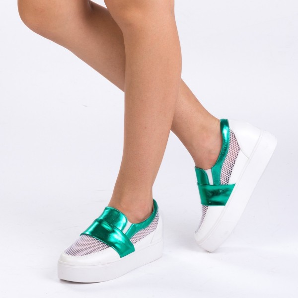 Pantofi Sport cu Platforma K109 Green Mei