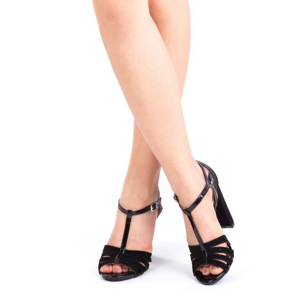 Sandale cu Toc XKK131A Black Mei