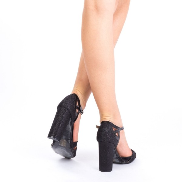 Sandale cu Toc XKK131 Black Mei
