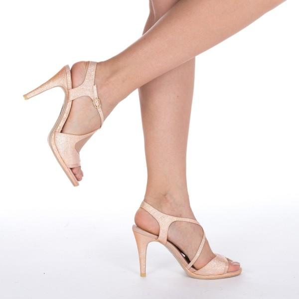 Sandale cu Toc GH95 Champagne Mei