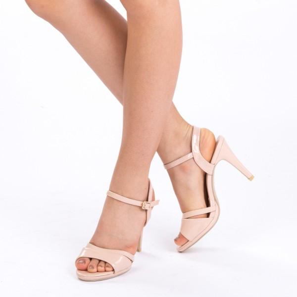 Sandale cu Toc GH96A Nude Mei