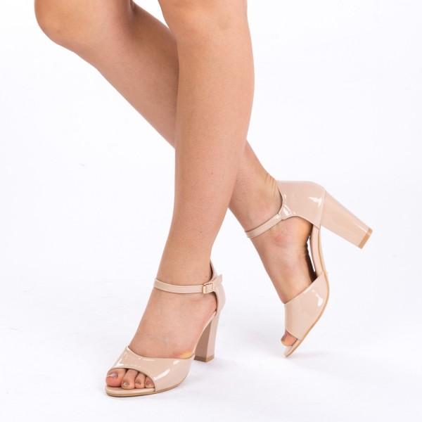Sandale cu Toc QZL79 Nude Mei