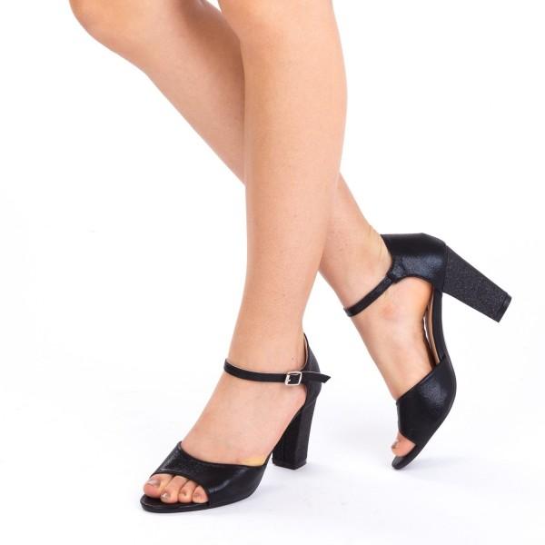 Sandale cu Toc QZL79C Black Mei