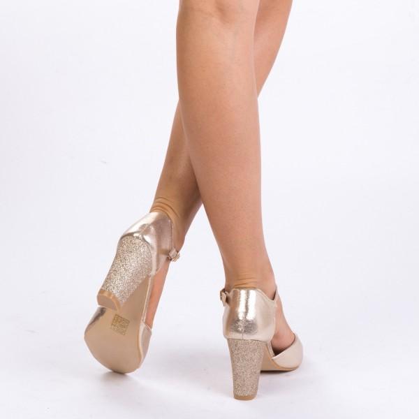 Sandale cu Toc QZL79C Gold Mei
