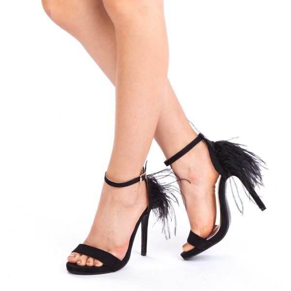 Sandale cu Toc QZL71 Black Mei