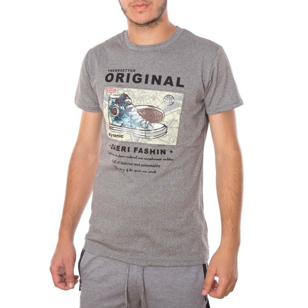 Tricou Barbati A8111 Light Grey Andrid