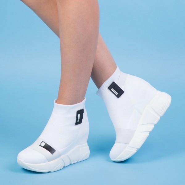 Pantofi Sport cu Platforma SZ159 White Mei