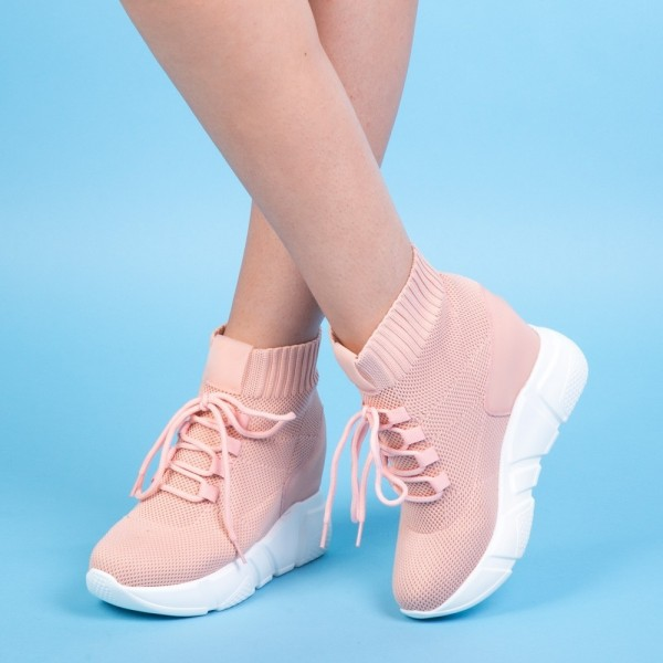 Pantofi Sport cu Platforma SZ160 Pink Mei