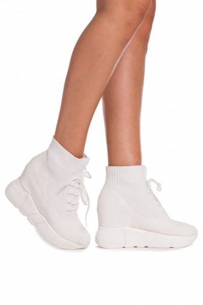 Pantofi Sport cu Platforma SZ160 White Mei