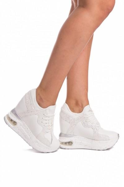 Pantofi Sport cu Platforma SZ136 White Mei