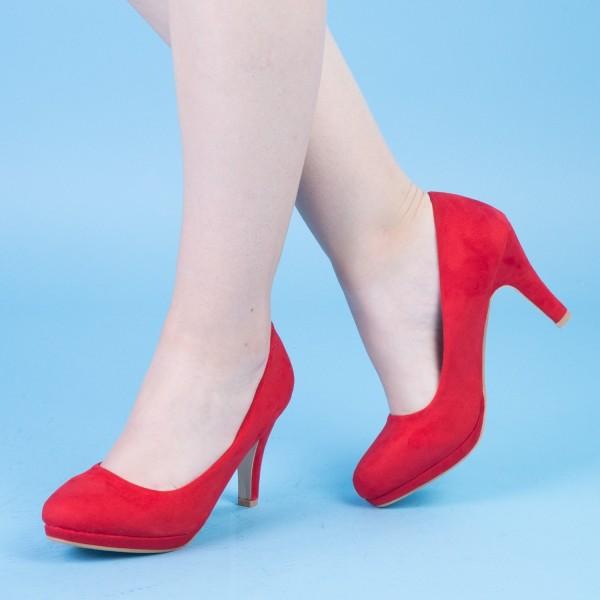 Pantofi cu Toc QZL131A Red Mei