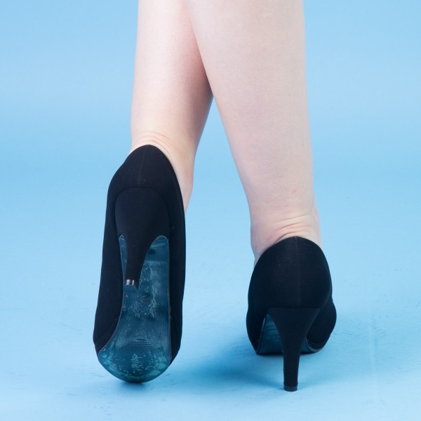 Pantofi cu Toc QZL131A Black Mei