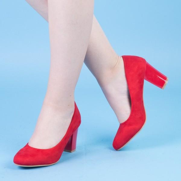 Pantofi cu Toc QZL128A Red Mei