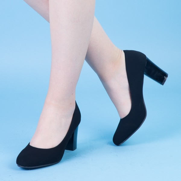 Pantofi cu Toc QZL128A Black Mei