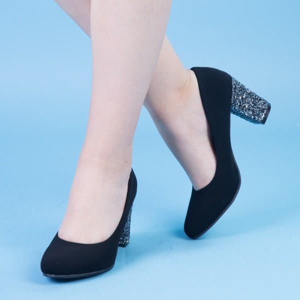 Pantofi cu Toc QZL128 Guncolor Mei
