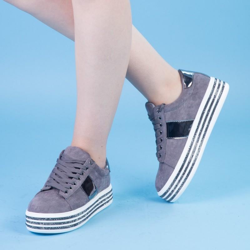 Pantofi Sport cu Platforma JET1 Grey Mei