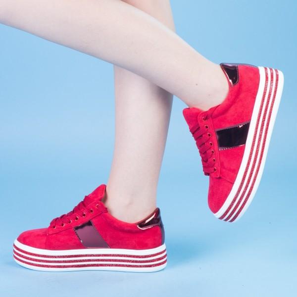Pantofi Sport cu Platforma JET1 Red Mei