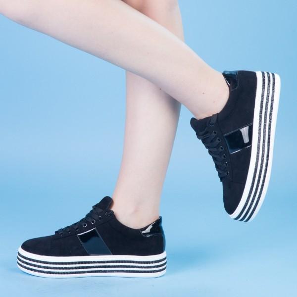 Pantofi Sport cu Platforma JET1 Black Mei