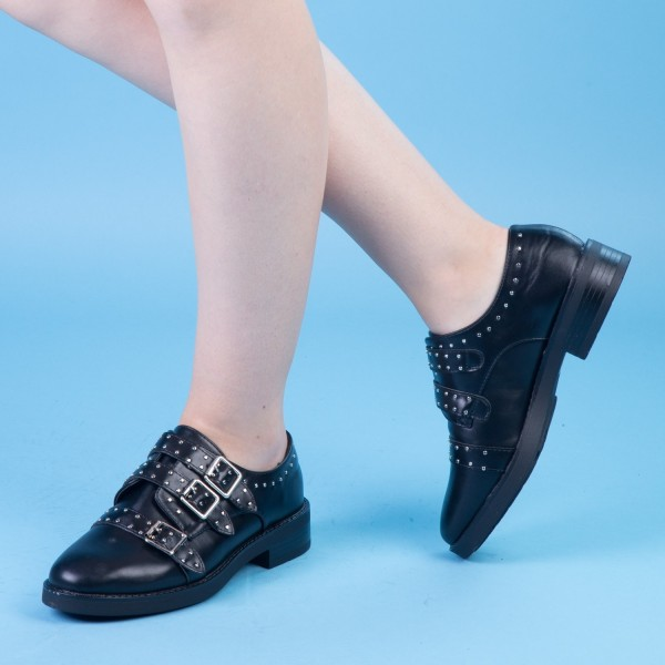 Pantofi Casual Dama FD21 Black Mei