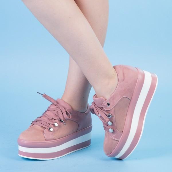 Pantofi Sport cu Platforma GB12 Pink Mei