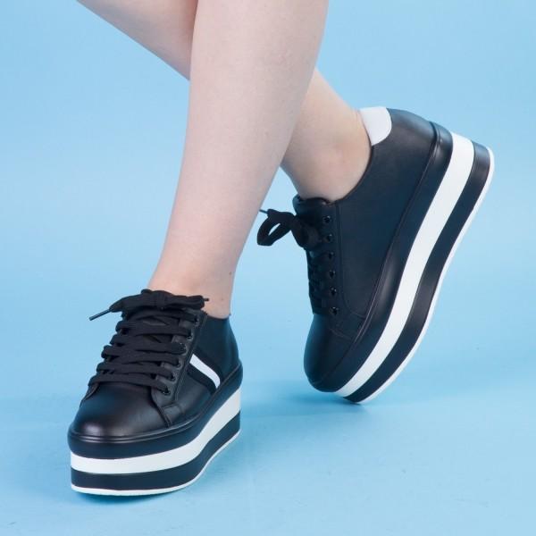 Pantofi Sport cu Platforma GB11 Black Mei