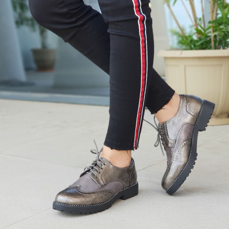 Pantofi Casual Dama WT51 Grey Mei