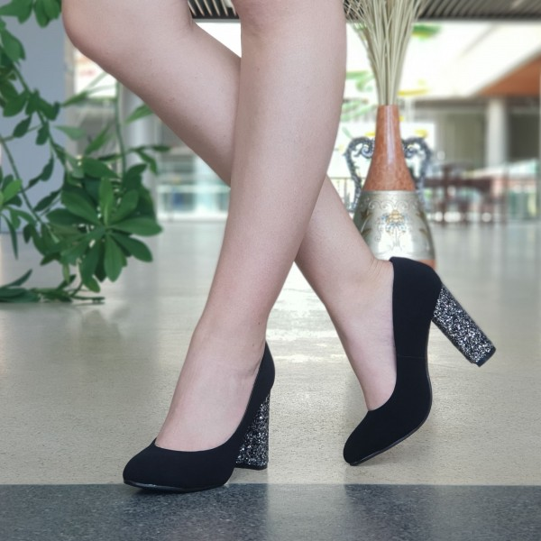 Pantofi cu Toc XKK130 Guncolor Mei