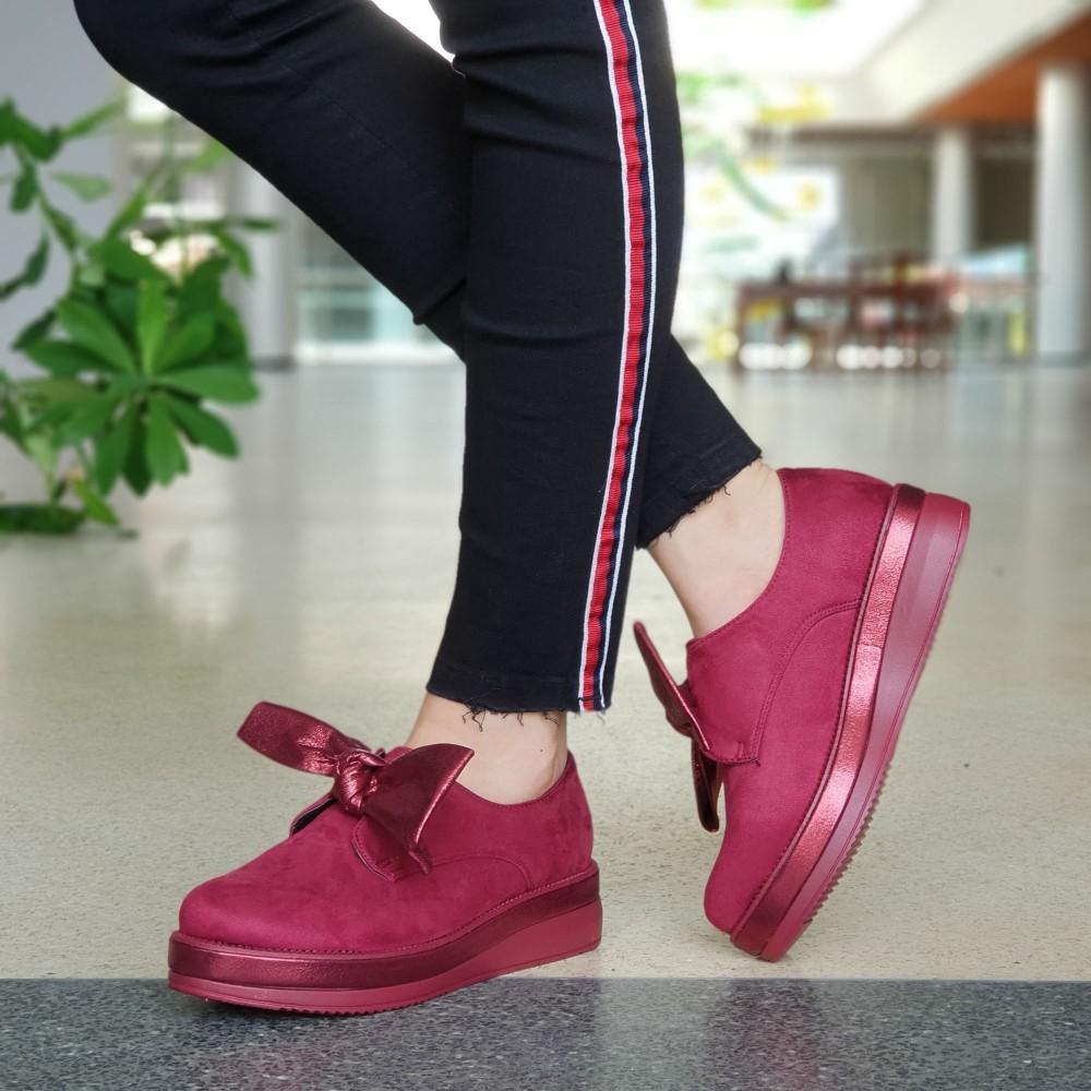 Pantofi Casual Dama YT09 Winered Mei