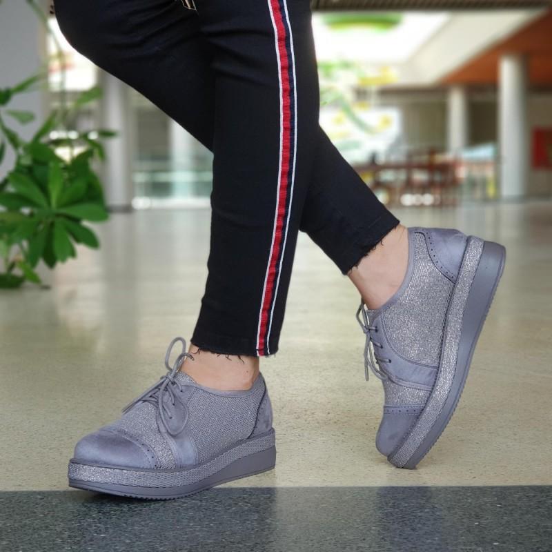 Pantofi Casual Dama YT11 Grey Mei