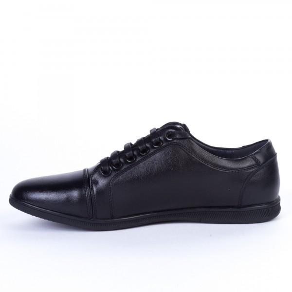 Pantofi Casual Barbati F363-11 Black Renda