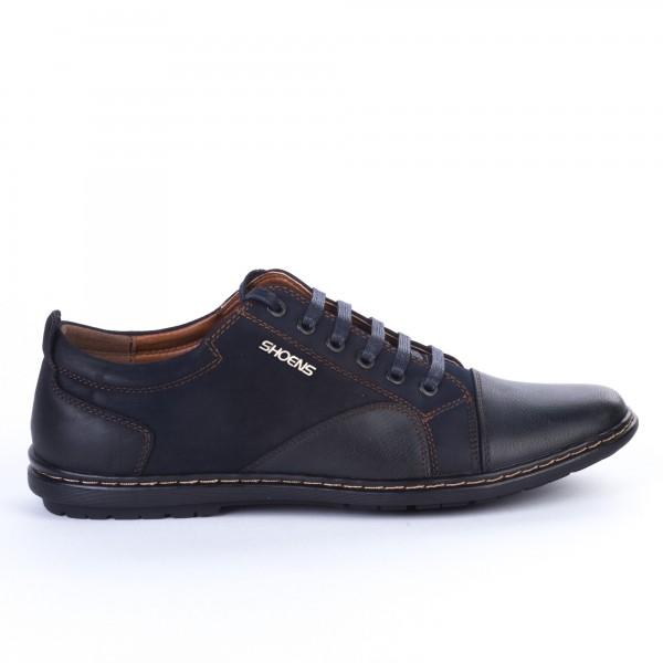 Pantofi Casual Barbati 30-1D Blue Renda