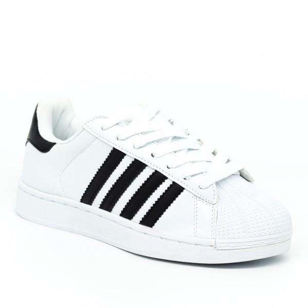 Pantofi Sport Dama 1809 White-Black Marketmod