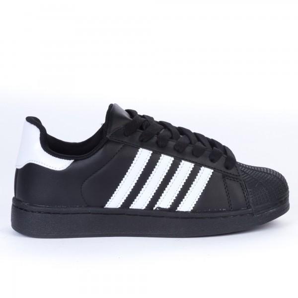 Pantofi Sport Dama 1809 Black-White Marketmod