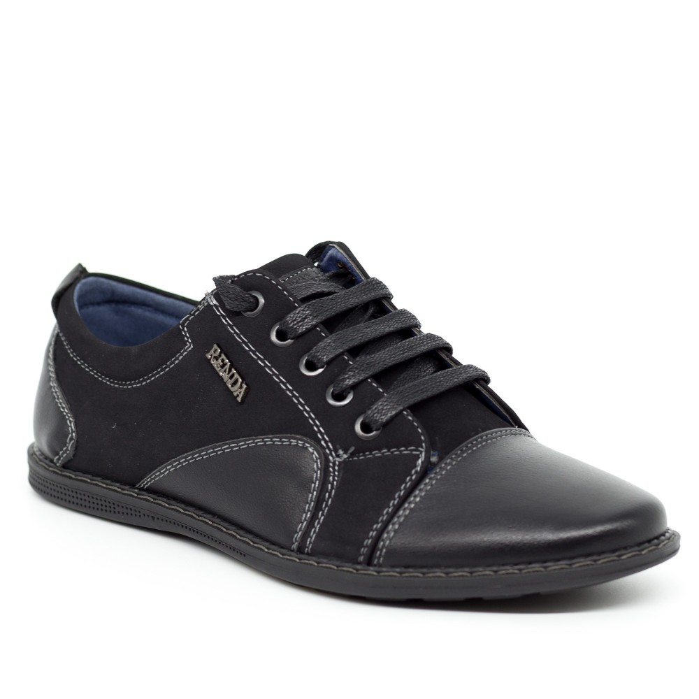 Pantofi Casual Dama T7312-8 Black Renda