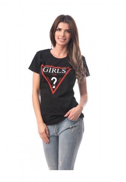 Tricou Dama 6774-3 GIRLS Negru Adrom