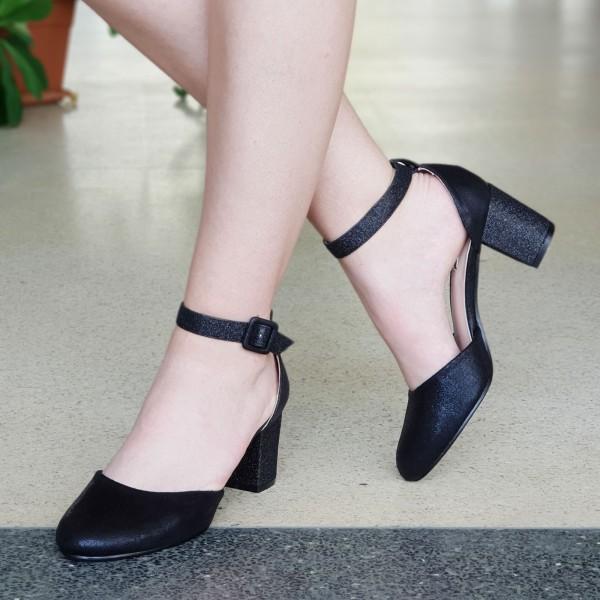 Pantofi cu Toc XD111A Black Mei