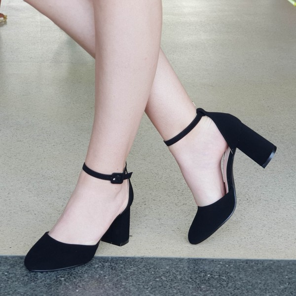 Pantofi cu Toc XD110B Black Mei