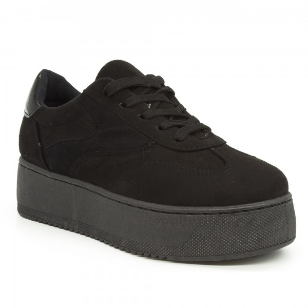 Pantofi Sport cu Platforma Dama GB17 Black Mei