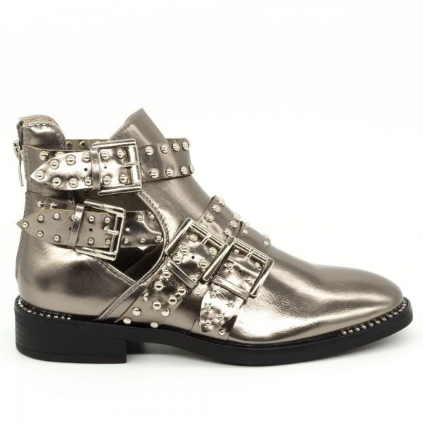 Ghete Dama Y7021 Champagne Goosho Footwear