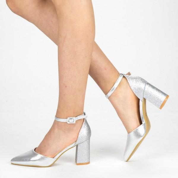 Pantofi cu Toc XD88C Silver Mei