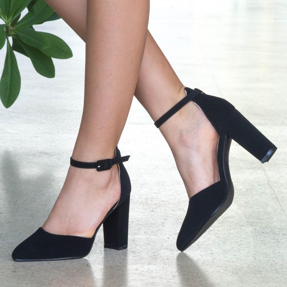 Pantofi cu Toc XD86A Black Mei