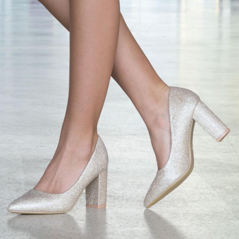 Pantofi cu Toc WT52C Gold Mei