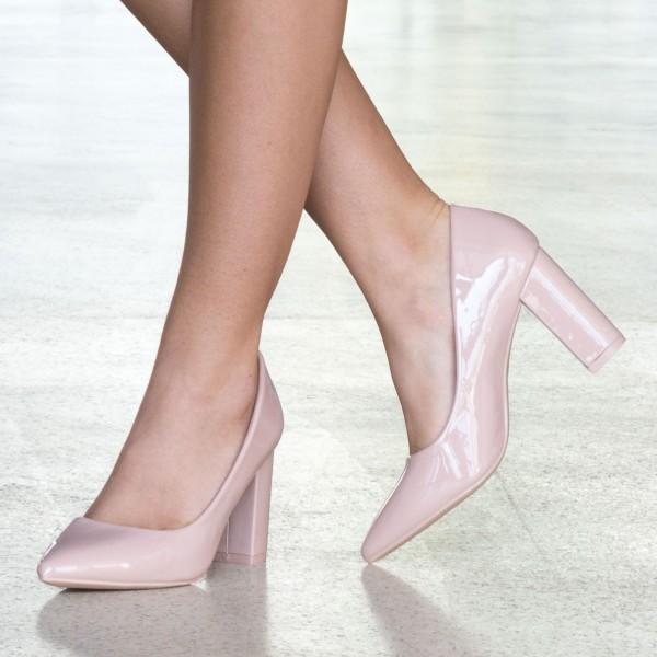 Pantofi cu Toc WT52A Nude Mei
