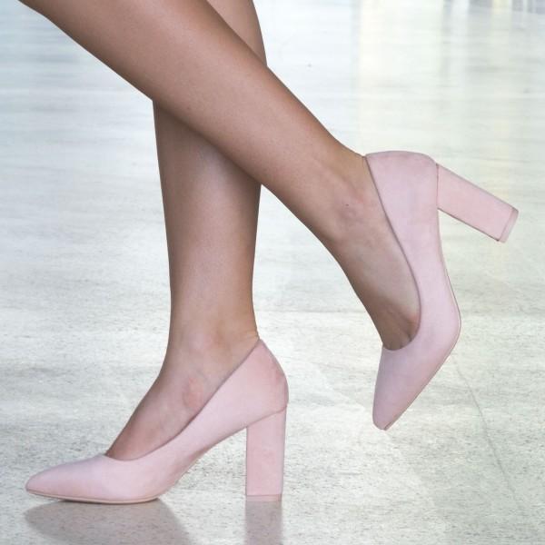 Pantofi cu Toc WT52 Pink Mei