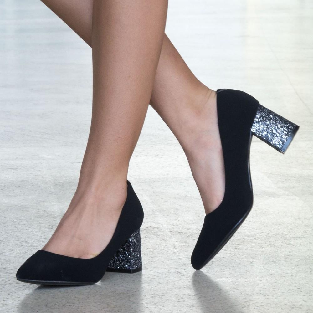 Pantofi cu Toc LLH18D Guncolor Mei