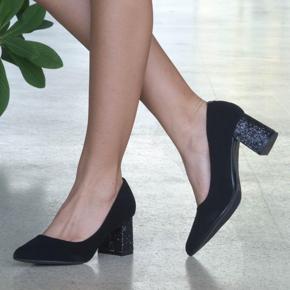 Pantofi cu Toc LLH18D Black Mei