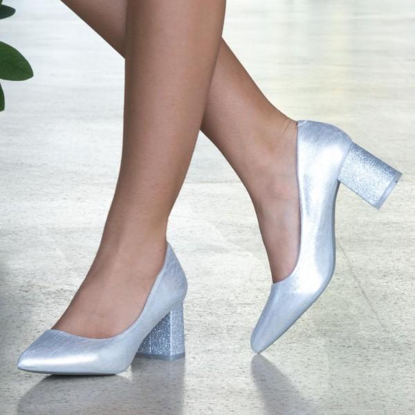 Pantofi cu Toc LLH18C Silver Mei