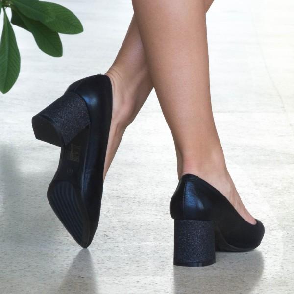 Pantofi cu Toc LLH18C Black Mei