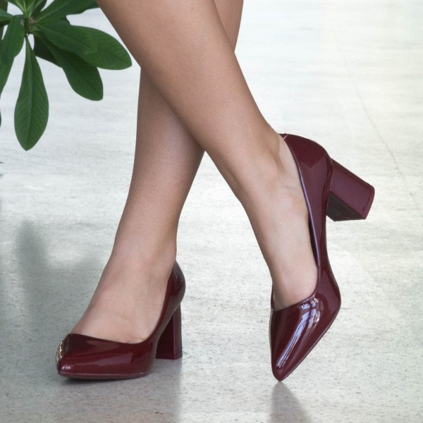 Pantofi cu Toc LLH18B Winered Mei