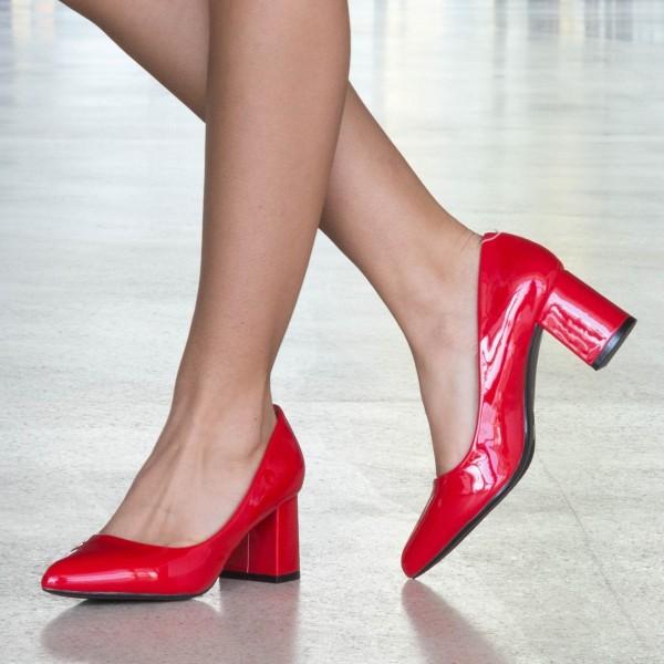 Pantofi cu Toc LLH18B Red Mei